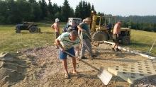 Výstavba nového altánku pri kapličke